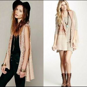 Free People in your arms Cardigan Vest  | XS